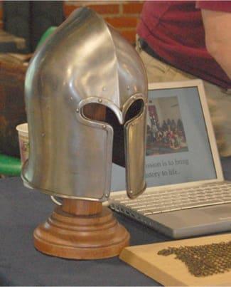 A Gladiator Helmet at the Minnesota Field Trip Expo