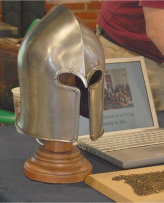 A Gladiator Helmet at the Minnesota Field Trip Expo