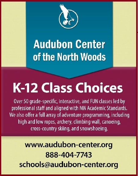 Audubon Center for the North Woods Class Choices
