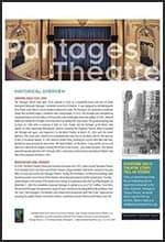 Pantages Fact Sheet