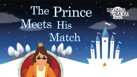 prince in front of castle cartoon