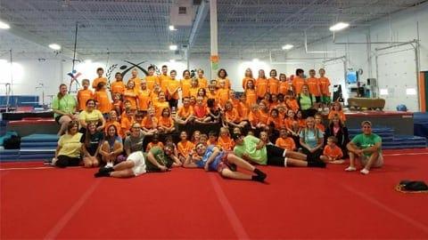 group of gymnastics people