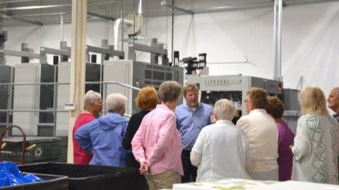 Tour Group at Printing Press