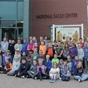 Students at National Eagle Center