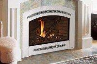GAS FIREPLACE SAND GRAVEL WOOD  Fireplaces