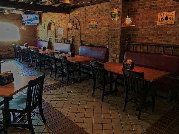 Interior of MnM BBQ Restaurant
