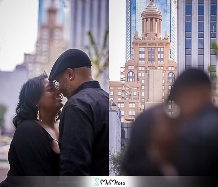 Tranquility Park Downtown  Houston texas  Engagement