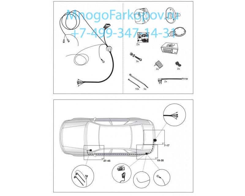 Штатная электрика к фаркопу на Opel Astra J 735863