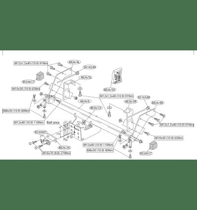 Фаркоп (прицепное) Brink для MAZDA BT50 482600