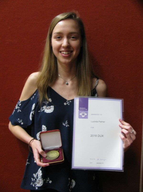 2018 Dux Lucy Palmer - 2018 - Gippsland's Best VCE Government School