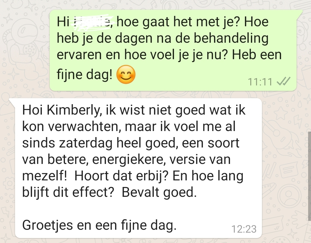 Review Healing sessie