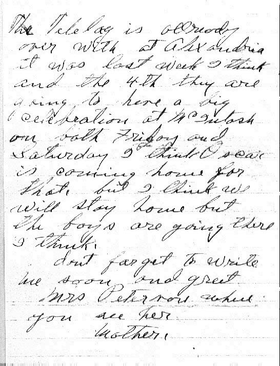 A Letter from Lina to George