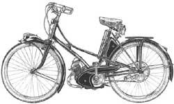 Mobylette från Motobécanefabriken.