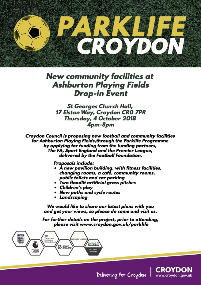 Ashburton Playing Fields Event - October 4th 2018