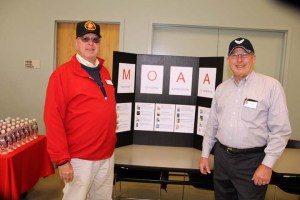 2015 MOAA Veterans Day booth. Terry Babin & Dave Casteel