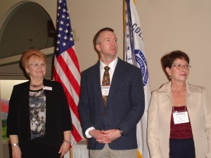 New chapters officers. L-R: President elect Evelyn Brady, 1VP Jeremy Baenen, 2VP Yvette Brown-Wahler