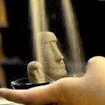 モアイの砂像-【原料と製法】