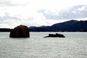 サンオーレ袖浜のモアイ岩