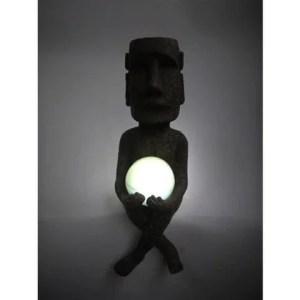 ソーラーライト モアイ玉ライト:発光イメージ