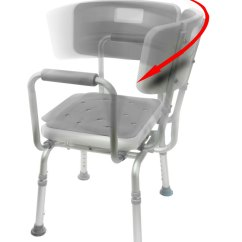 Shower Chair With Back And Armrests Zebra High Heel Swivel 2 Bath Bathroom Aid Mobb Home Health 0