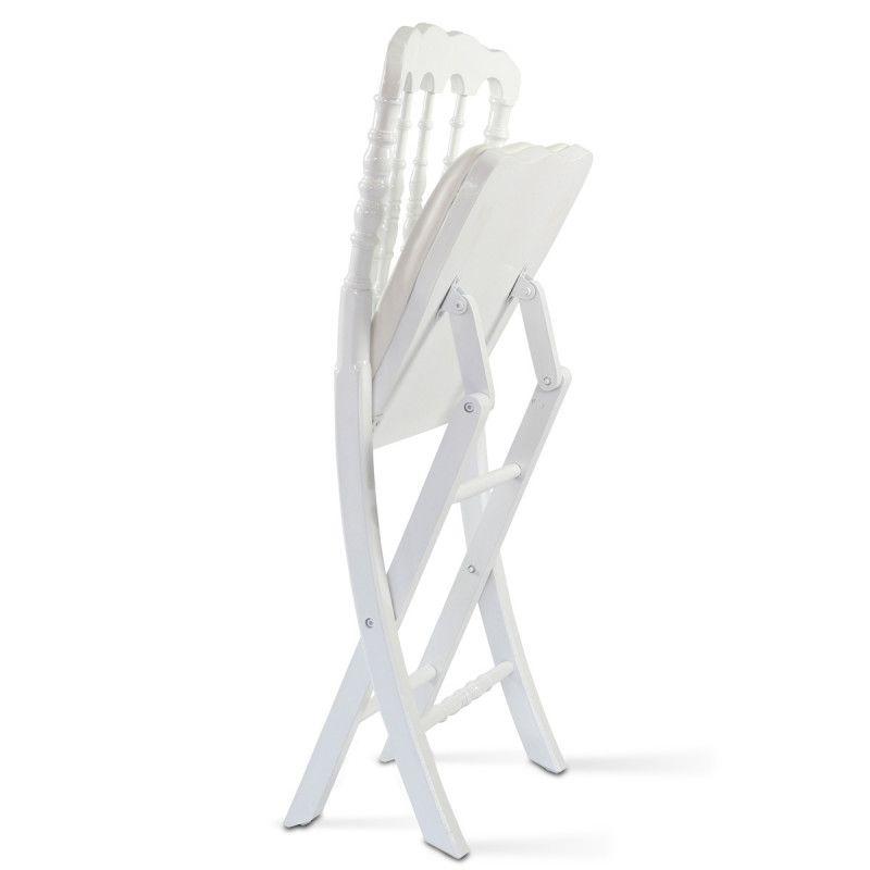 chaise pliante napoleon 3 blanche en bois