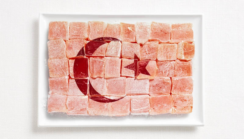 turkey flag made from food