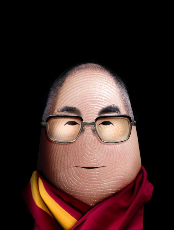 dalai lama finger art