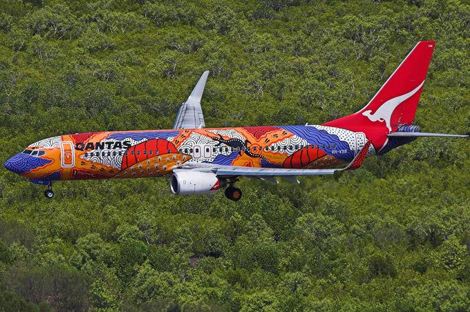 qantas airlines paint