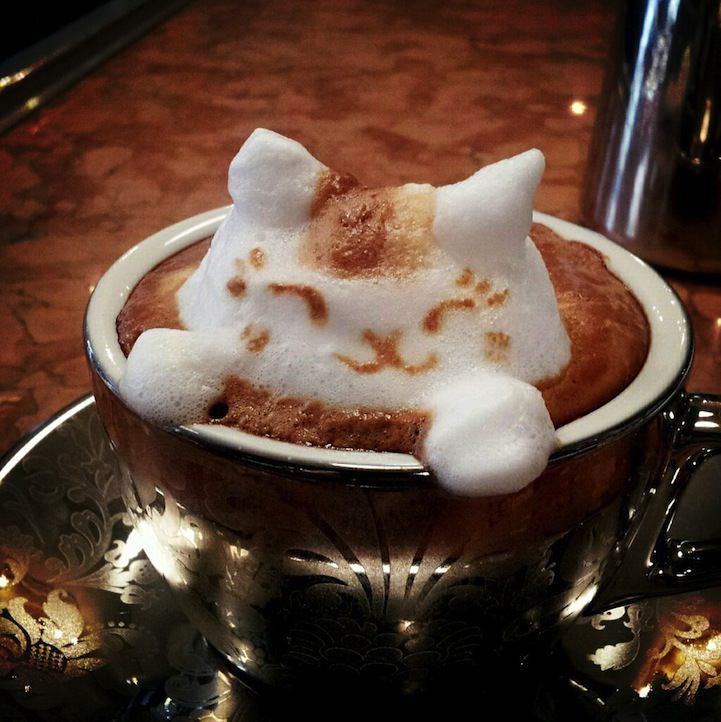 3d coffe latte art