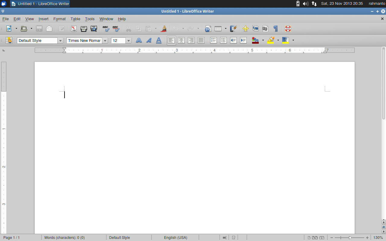 xubuntu libre office writer