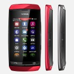 Nokia Asha 305 Front and Side View