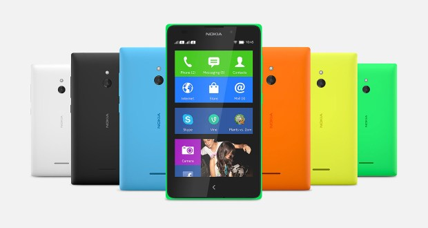 Nokia XL Front and Back View