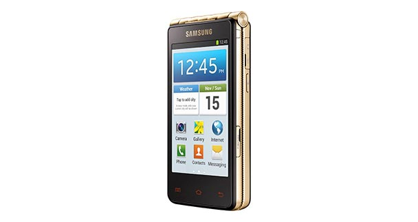 Samsung Galaxy Golden Front and Side View