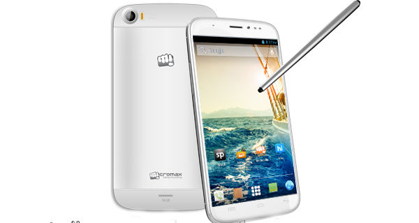 Micromax A240 Canvas Doodle 2 Front and Back View