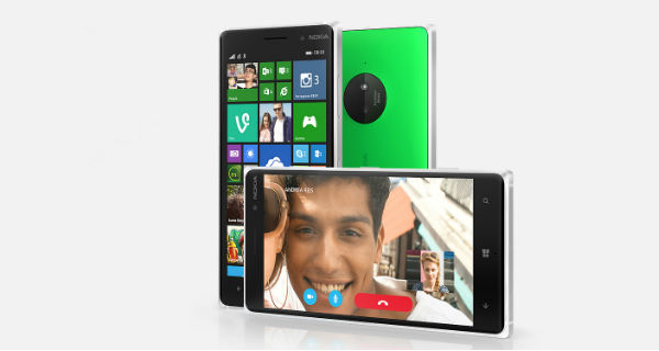 Nokia Lumia 830 Front and Horizontal View