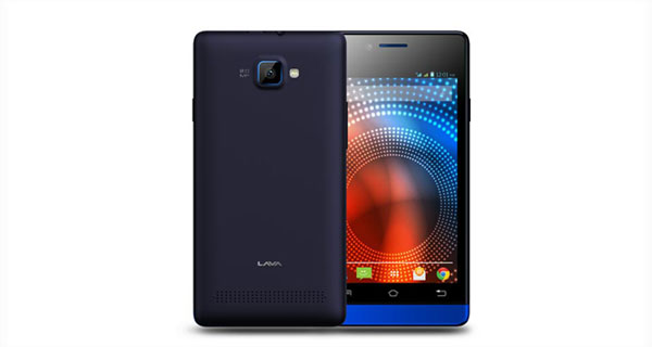 Lava Iris 444 Front & Back View