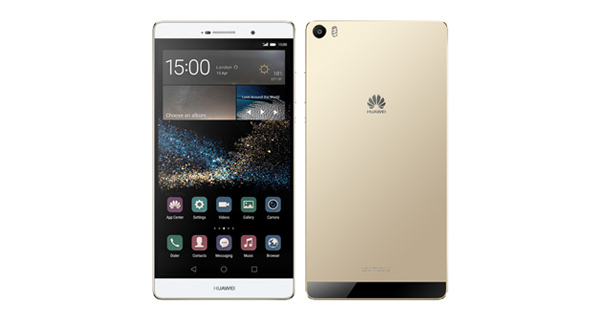 Huawei P8max Front and Back View