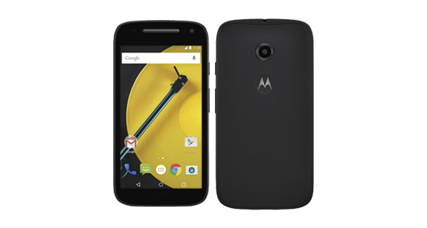 Moto E (2nd Gen) 4G Front and Back View