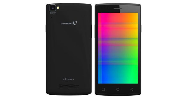 Videocon Infinium Z45 Nova Plus Front and Back View