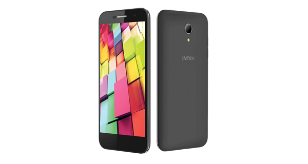 Intex Aqua 4G Plus Front and Top View