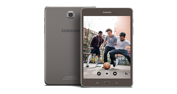 Samsung Galaxy Tab A Front and Back View