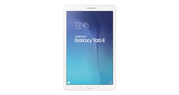 Samsung Galaxy Tab E Front View