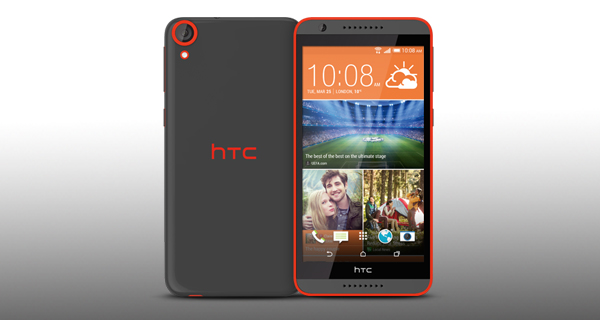 HTC Desire 820G Plus Dual Sim Front and Back