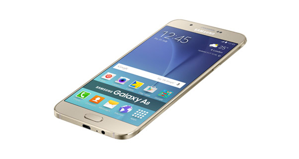 Samsung Galaxy A8 Top Side View