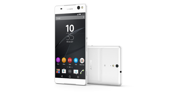 Sony Xperia C5 Ultra Dual Front and back White
