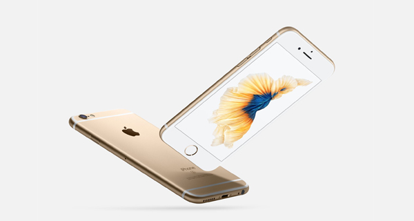 Apple iPhone 6s Plus Front and Top View