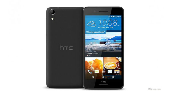 HTC Desire 728 Front and Back Black