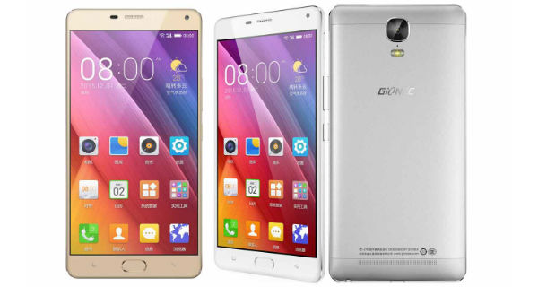 Gionee Marathon M5 Plus Front and Back
