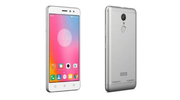 Lenovo K6 Power Front and Back