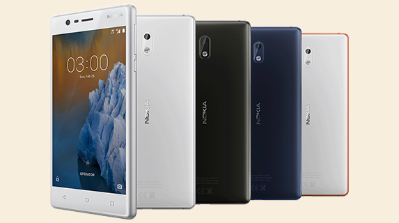 Nokia 3 launched in India at Rs. 9499